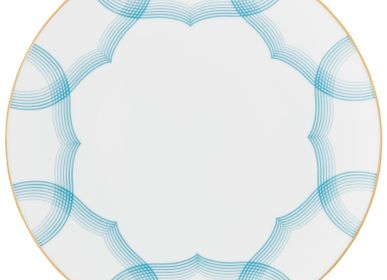Formal plates -  Aura - Coupe plate flat azure 24 - RAYNAUD