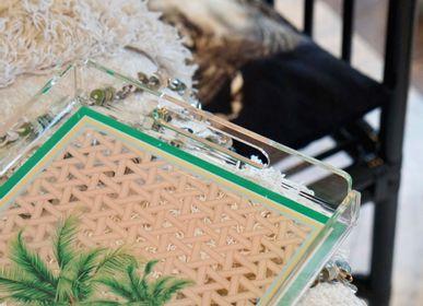 Couverts & ustensiles de cuisine - Assiette en porcelaine à motifs palmiers Hazeran 20 cm - VITELLI DESIGN STUDIO