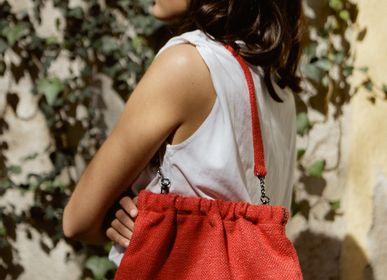 Clutches - Diane Red Linen - TECLA BARCELONA