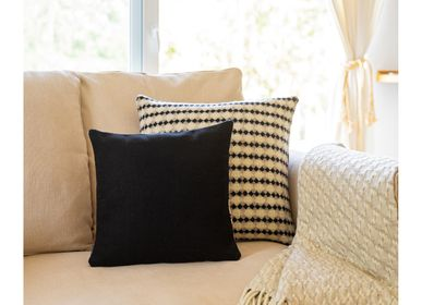 Fabric cushions - BICOLOR AZULEJO Cushion by Mantecas - BUREL FACTORY