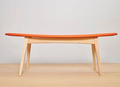 Banquettes pour collectivités - banquette design en bois SURF - VAN DEN HEEDE-FURNITURE-ART-DESIGN