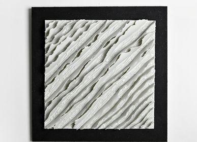 Céramique - Tableaux Porcelaine «Chemins de traverse» collection Ecorce - GUENAELLE GRASSI
