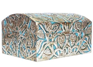 Caskets and boxes - Leather jewelry tree of the life - MERYAN