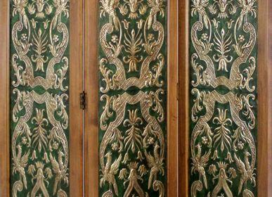 Decorative objects - Leather folding screen Paraiso - MERYAN