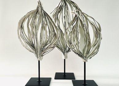 Sculptures, statuettes et miniatures - Sculpture Arbre Porcelaine avec liseré noir - GUENAELLE GRASSI