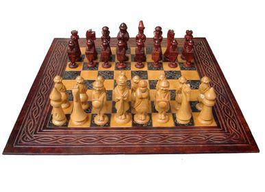 Decorative objects - Leather Chessboard  - MERYAN