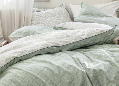 Bed linens - Graphic foliage - BLANC CERISE