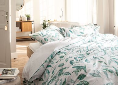 Bed linens - Vegetable footprint - BLANC CERISE