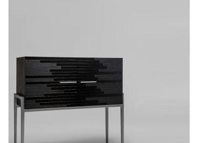 Objets design - Buffet moderne Vind en platine - LARISSA BATISTA