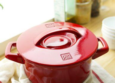 Faitouts - Ceraglaze Casserole (24cm,Red) - JIA