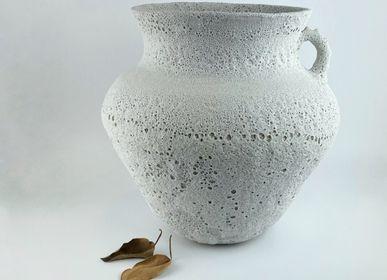 Vases - Lava Vase with handle - VALVANUZ CERAMICS