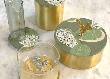 Storage boxes - Glass Box Cactus Motif - ASMA'S CRAFTS
