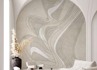 Autres décorations murales - Beige soft motion | Papier Peint Artisanal  - AFFRESCHI & AFFRESCHI