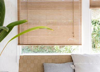 Rideaux et voilages - Store enrouleur en bambou fin marron - COLOR & CO