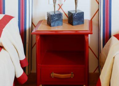Tables de nuit - Table de chevet en cuir - THEA