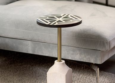Other tables - Marble foot round side table - ASIATIDES