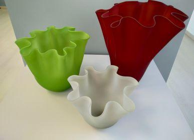 Verre d'art - Vase gravé «fazzoletto» - VETRERIA MURANO DESIGN