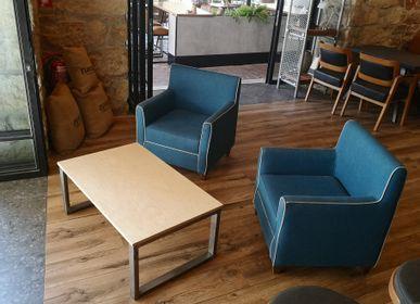 Tables basses - Table basse de type industriel avec plateau en érable - LIVING MEDITERANEO