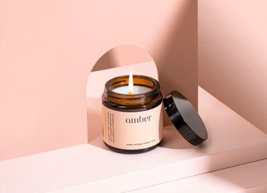 Bougies - bougie parfumée minimaliste 100% cire végétale ambre - MIA COLONIA