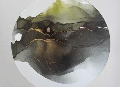 Clocks - Alcohol paint on paper 30x30cm  - ARTYPIC