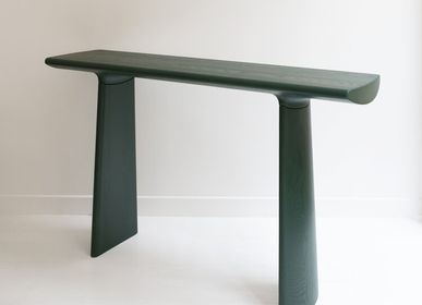 Console table - Console Daiku in stained ash wood varnished by Victoria Magniant - VICTORIA MAGNIANT POUR GALERIE V