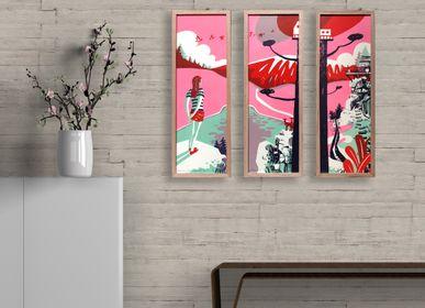 """Ensembles muraux - affiche grand format """"je vois la vie en rose"""" - ST"""