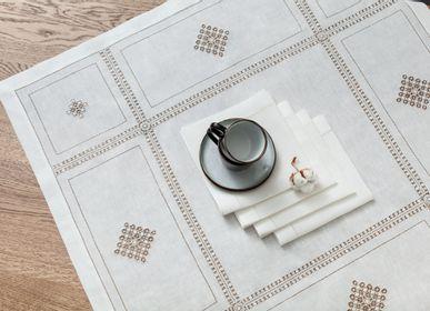 Table linen - Coffee set: 1Napkin 90*90 cm and 4 napkins 40*40 cm - KRESTETSKAYA STROCHKA