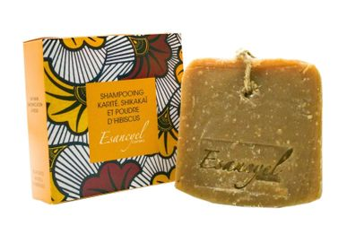 Soaps - Natural Handmade Extra Soft Solid Shampoo with Shea Butter, Hibiscus Flower and Shikakai Powder - Clarifying - 120g - L'ATELIER DES CREATEURS