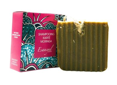 Soaps - Natural Artisanal Solid Shampoo Extra Soft Shea Powder and Moringa Oil - Fortifying - 120g - L'ATELIER DES CREATEURS