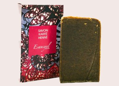 Soaps - Handmade extra-soft soap with shea butter and neutral henna powder - 100g - L'ATELIER DES CREATEURS
