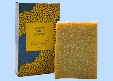 Soaps - Handmade extra-soft soap with shea butter and sulfur - 100g - L'ATELIER DES CREATEURS