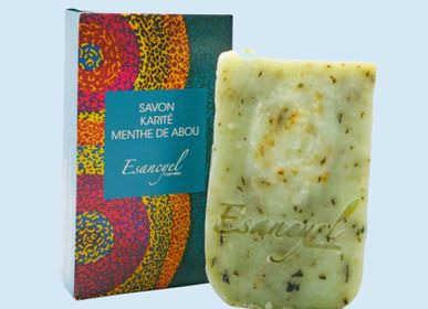 Soaps - Handmade extra-soft soap with shea butter and Abu mint - 100g - L'ATELIER DES CREATEURS