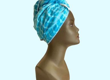 Bath towels - Turban Towel, Quick Dry Hair, Wax Cotton Lined Microfiber Bamboo - L'ATELIER DES CREATEURS
