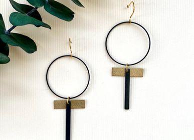 Jewelry - Brass and matt black earrings. - NAO JEWELS
