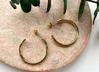 Jewelry - Gold earrings with fine gold. Hoop Earrings - NAO JEWELS