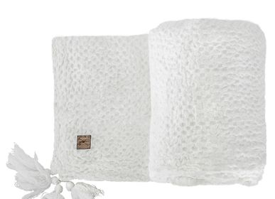 Decorative objects - BEDA linen waffle throw 90 x 170 cm - XERALIVING