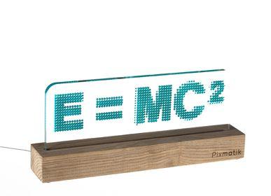 """Objets design - LAMPE D'AMBIANCE DESIGN """"E = MC2"""" - PIXMATIK"""