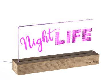 "Objets design - LAMPE D'AMBIANCE DESIGN ""NIGHT LIFE"" - PIXMATIK"