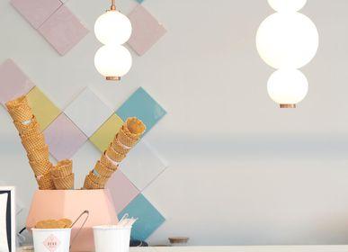 Ceiling lights - Bonbon Single Module Small White Glass - ATOLYE STORE