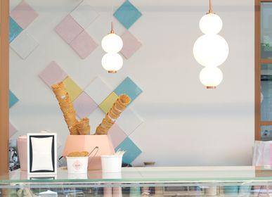 Plafonniers - Bonbon Module simple en verre blanc - ATOLYE STORE