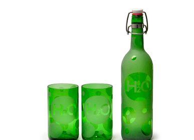 """Verres - Set bouteille & verres à eau """"H2O"""" - IWAS"""
