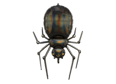 Décor de fête pour enfant -  Ballon en aluminium Spider, 60x101 cm, noir - PARTYDECO