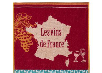 Kitchen linens - Vin de France - Terry square - COUCKE