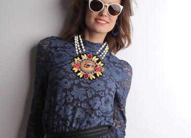 "Bijoux - Bijoux collier fait main "" Golden Eye "" / fait main en France - MOUCHKINE JEWELRY"