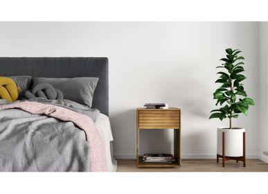 Shelves - Solid Wood Nightstand EMMA - WOODEK