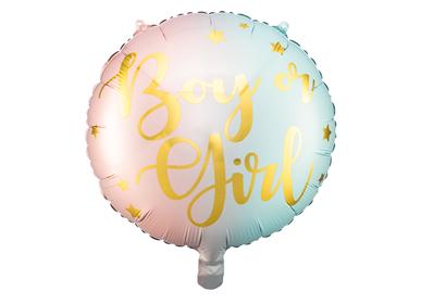Objets de décoration -  Ballon en aluminium Garçon ou Fille, 35 cm, mélange - PARTYDECO