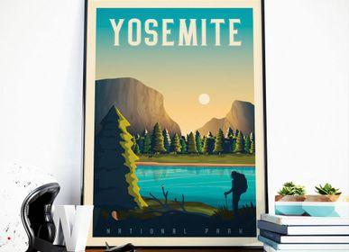 Poster - VINTAGE TRAVEL POSTER YOSEMITE NATIONAL PARK | YOSEMITE NATIONAL PARK ILLUSTRATION PRINT - OLAHOOP TRAVEL POSTERS