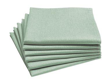 Table linen - Cambrai Sauge - Tablecloth and napkin - COUCKE