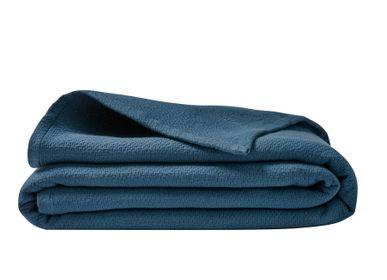 Linge de lit - Poème Bleu Odyssée - Courtepointe, couvre-lit et housse de coussin - ESSIX