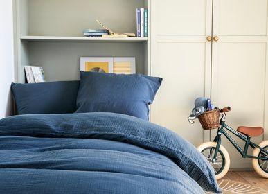 Bed linens - Tendresse Bleu de Chine - Duvet set - ESSIX